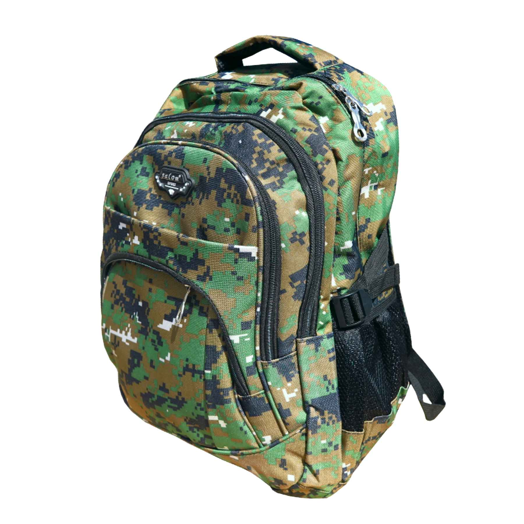 11e3aaa1bf maskáčový ruksak Salom Sport digital woodland. špecifikácia   maskáčový  batoh strednej veľkosti s jednou veľkou a dvoma menšími prednými batoh
