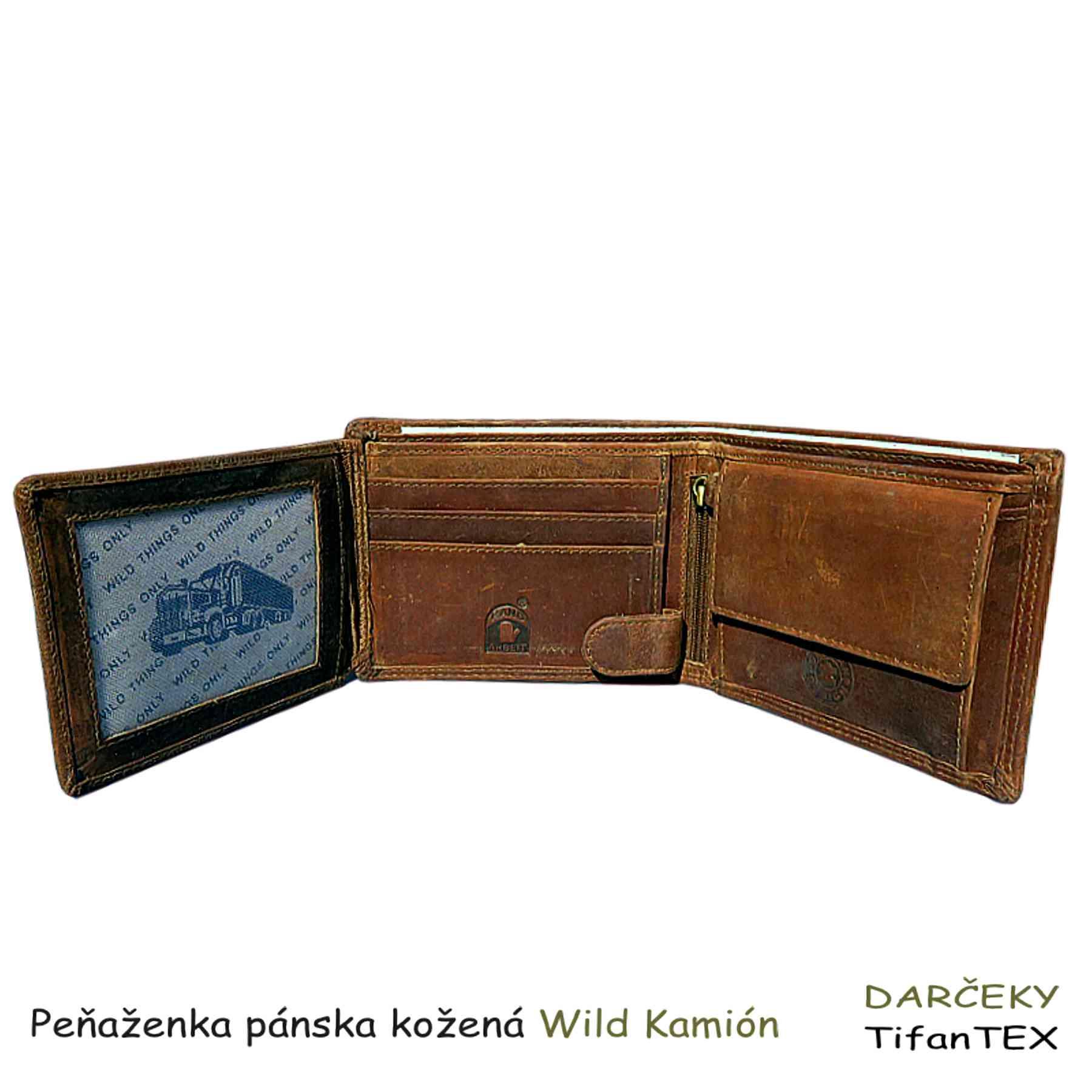 fcab31053 Pánska kožená peňaženka Kamión | veľkoobchod nitra tifantex