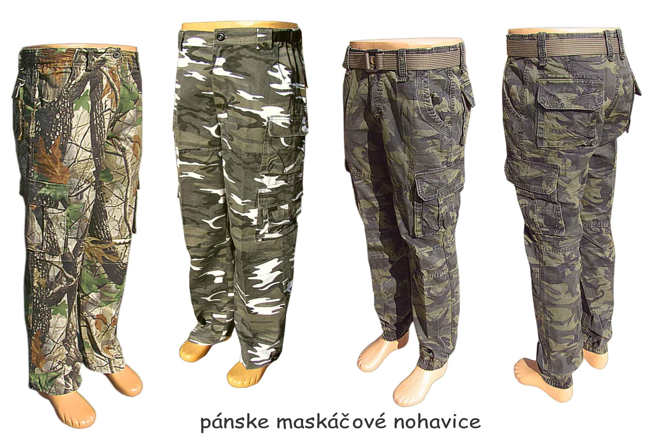 659d60fa9d6 Maskáčové nohavice