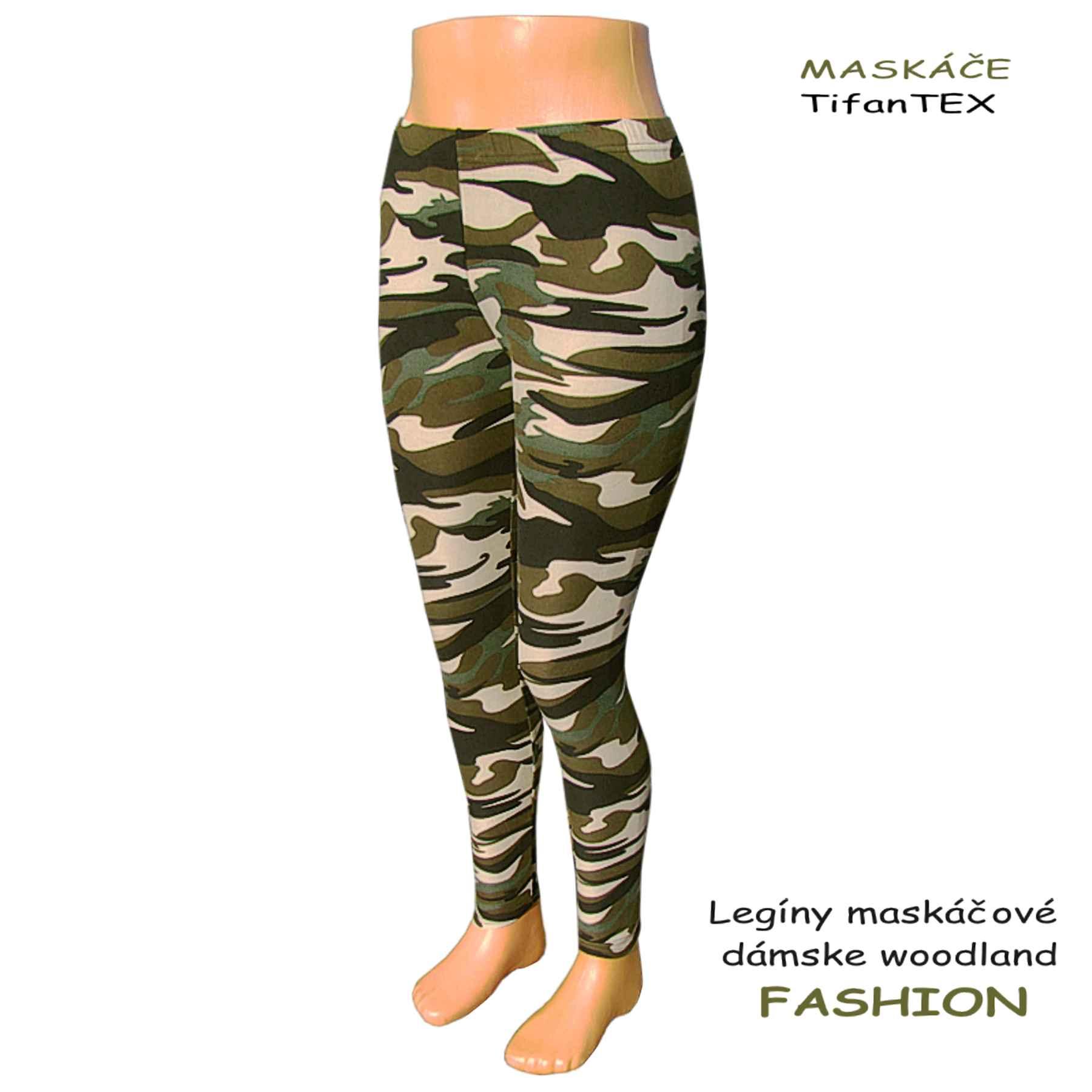 klasické legíny dámske maskáčové Fashion ... d5d687362b
