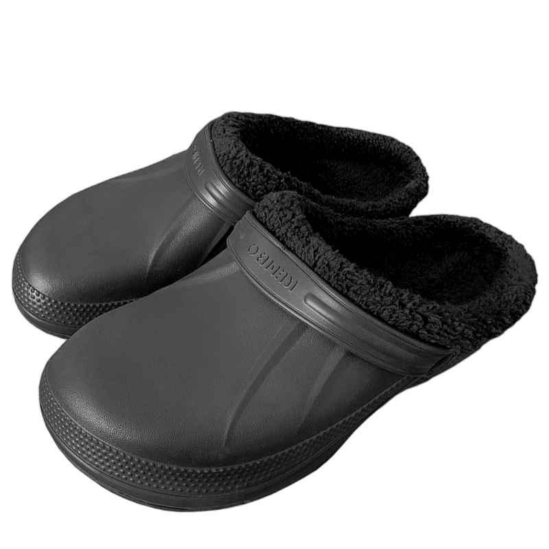 Šľapky KROKSY zateplené čierne  fcd4563082c