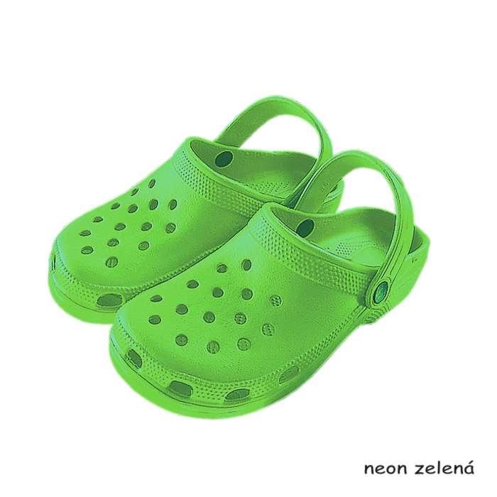 2d7a83729 Dámske kroksy zelené neon | eshop a veľkoobchod TifanTEX