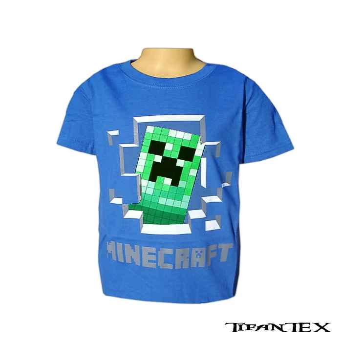 78368b56fee2 Tričko detské Minecraft modré