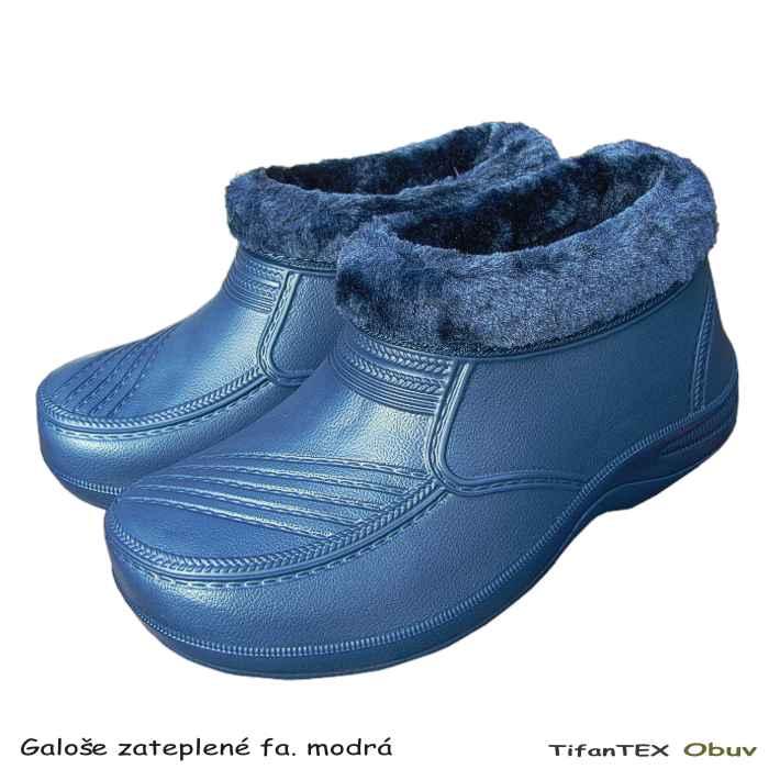 b9f15f29e1201 Galoše dámske SPORT zateplené modré, obuv velkoobchod
