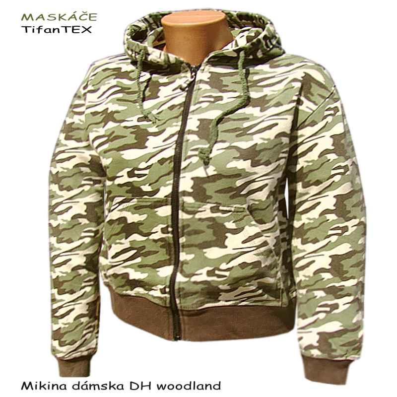 Mikina dámska DH maskáčová woodland 5751cea9c83