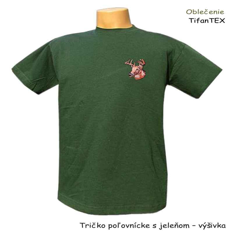 62e94a6aa963 Tričko poľovnícke s jeleňom výšivka