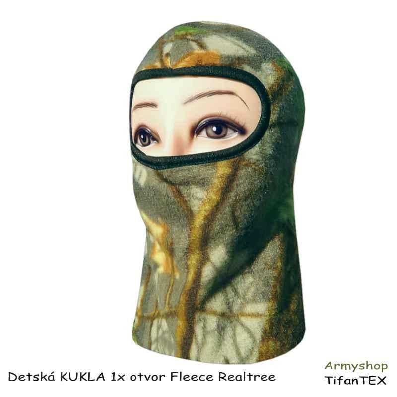 Detská KUKLA 1x otvor Fleece Realtree green - SUPER AKCIA - 45% 851002a60d7