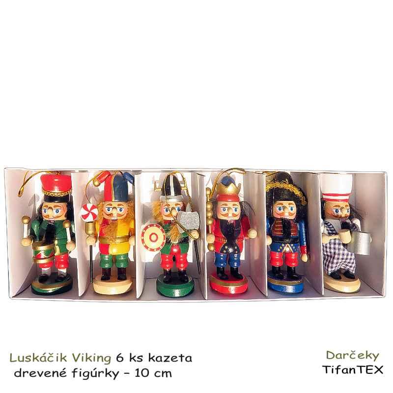 Vojačik Luskáčik Viking 6 ks drevené figúrky  7add921fcc4