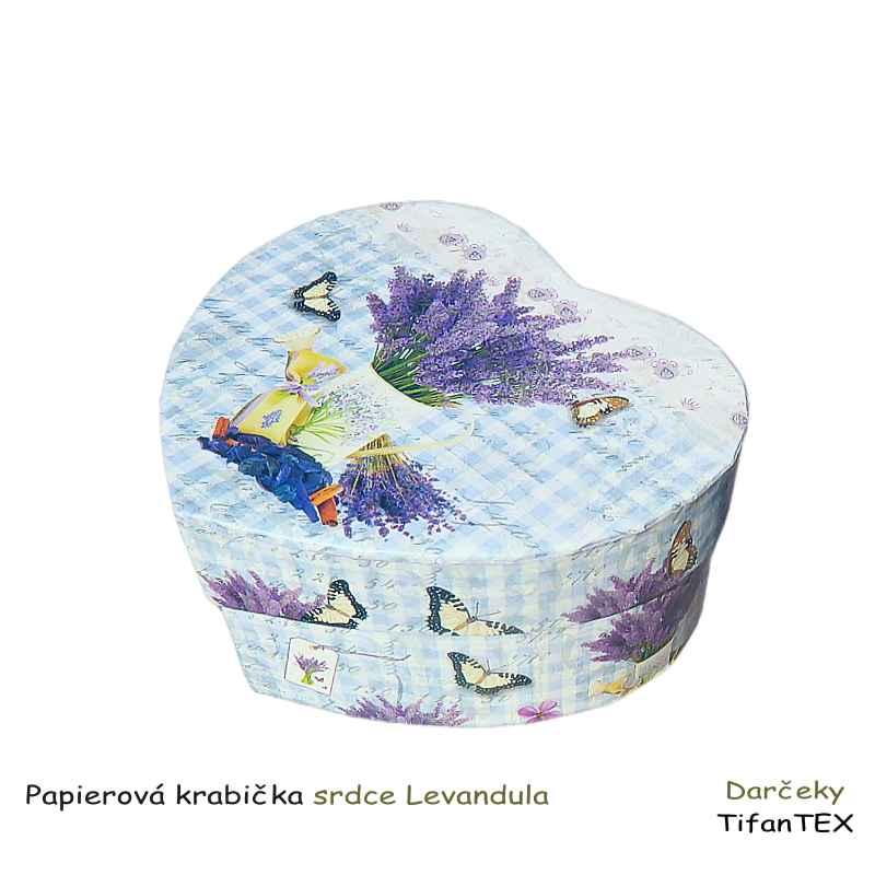 1b7326839 Papierová krabička srdce Levanduľa | TifanTEX dekorácie