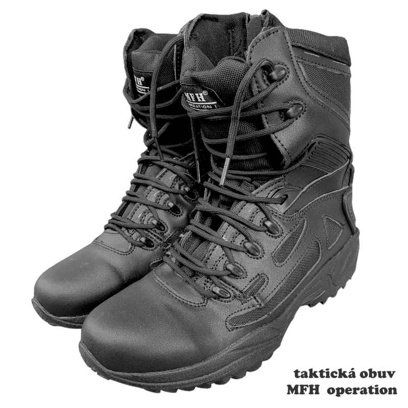 taktická obuv MFH operation 18853A čierna 48bbb64e5e8