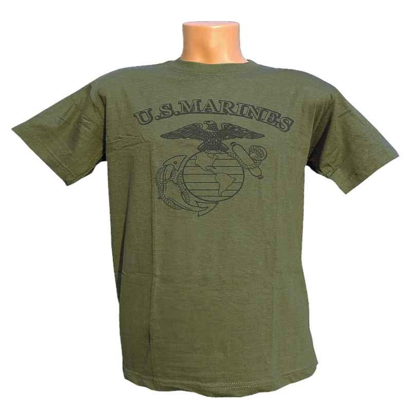 e81575ee5012 detské tričko U.S.MARINES zelené