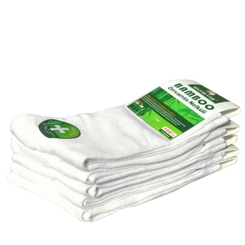 dámske ponožky aura.via biele antibakteriálne 5ks 854bc2a57b