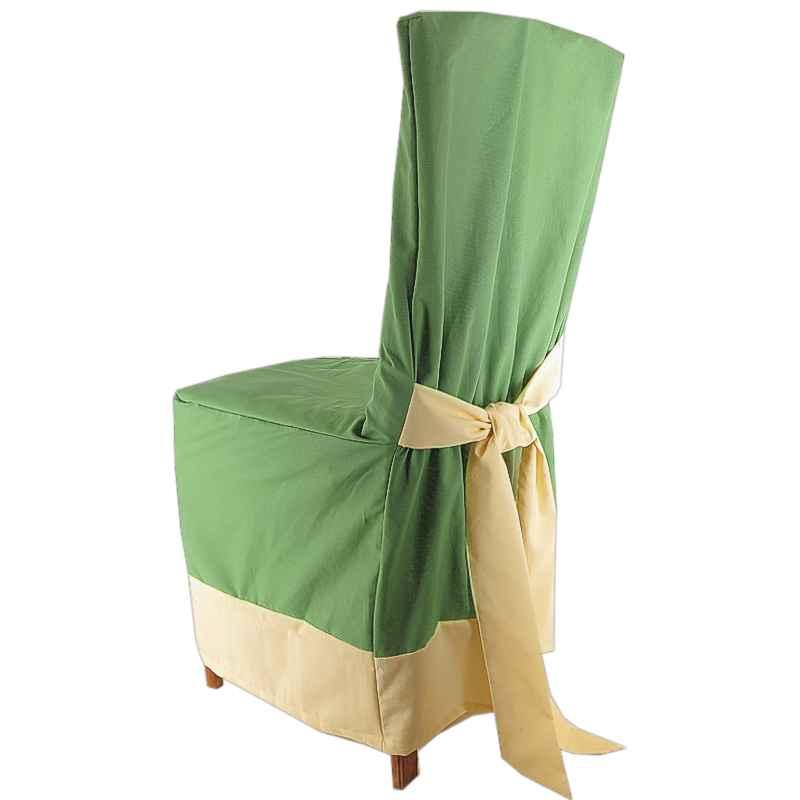ffd084ec5239 Návlek na stoličku zelený s lemom