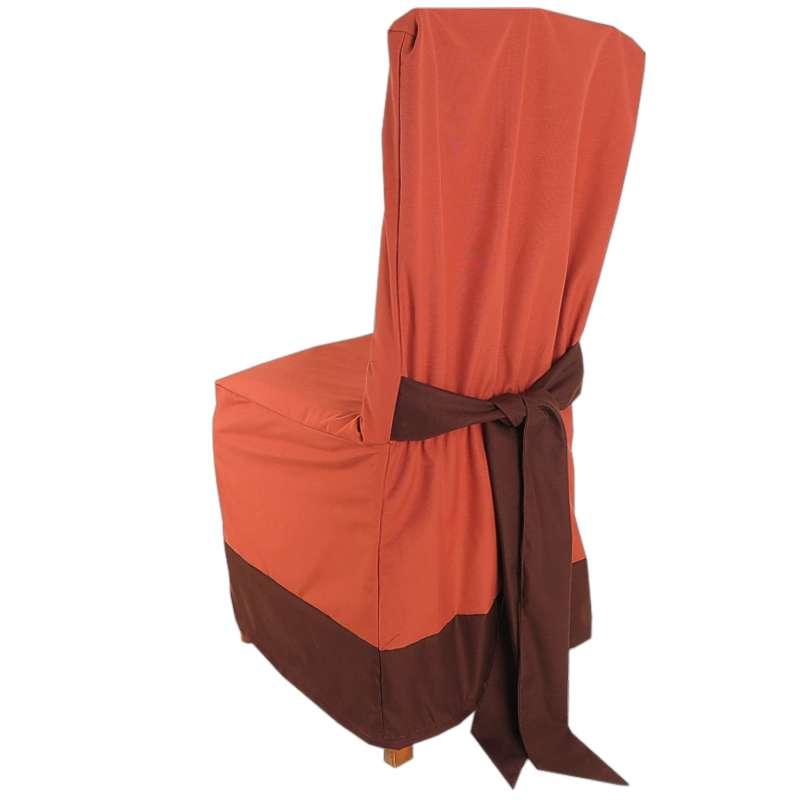 dc4c19f2facbe Návlek na stoličku oker s lemom hnedý | TifanTEX eshop a veľkoobchod