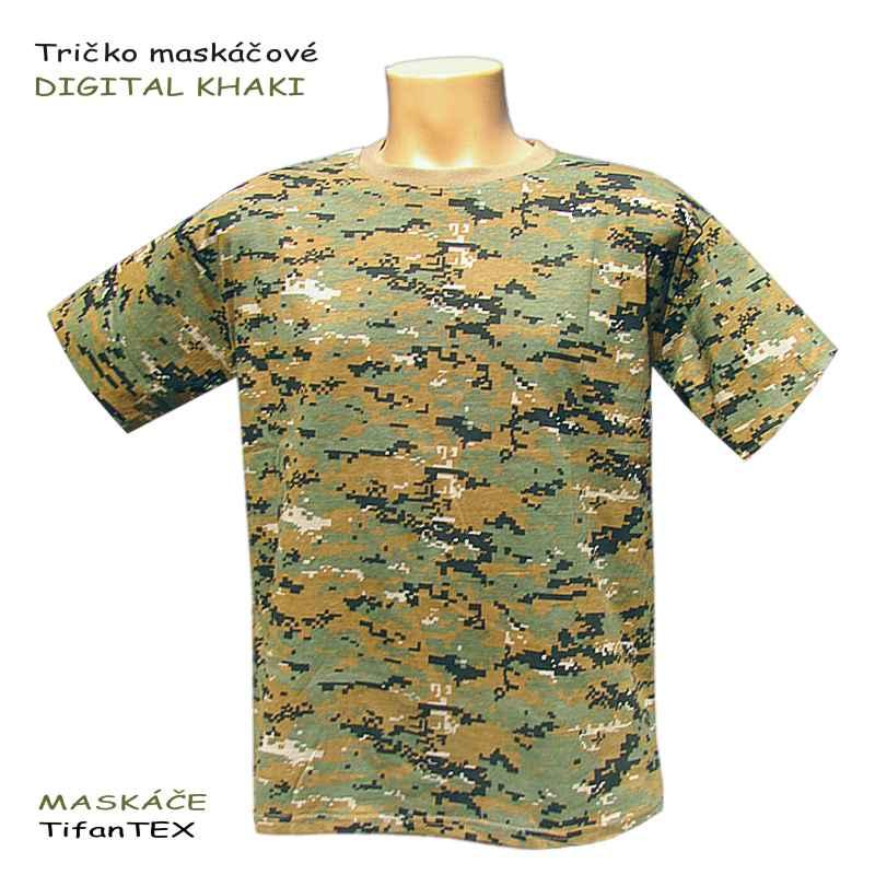 Tričko maskáčové DIGITAL khaki c2807be4c3b