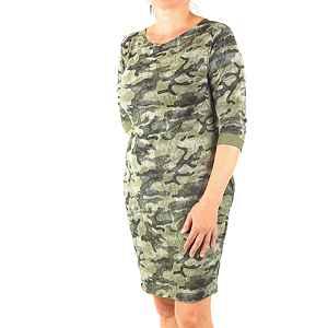 9510500365a1 dámske maskáčové šaty woodland empty