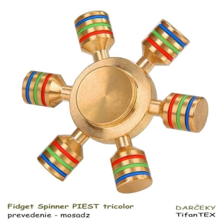 Fidget Spinner sk Piest tricolor mosadzný