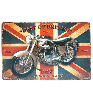 Plechová tabuľa retro Best of British BSA 30 x 20 cm